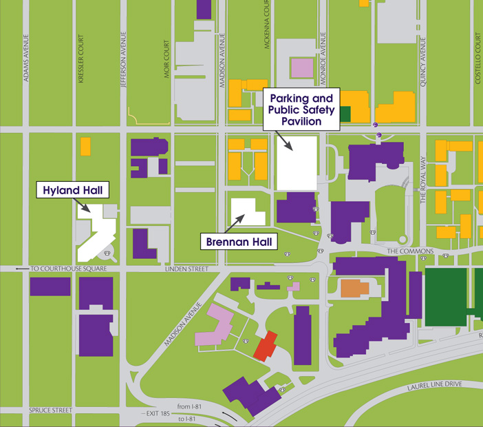 scranton university campus map Directions To The University Of Scranton Hope Horn Gallery scranton university campus map