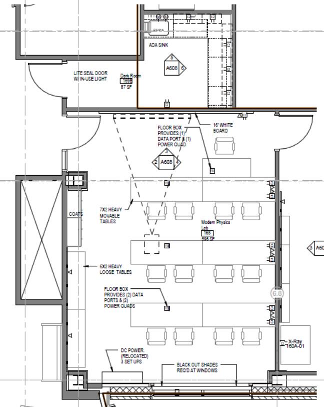 Laboratory Room Design: Modern Physics Lab