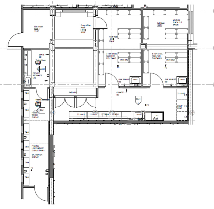 Aquatics Customize floor plans