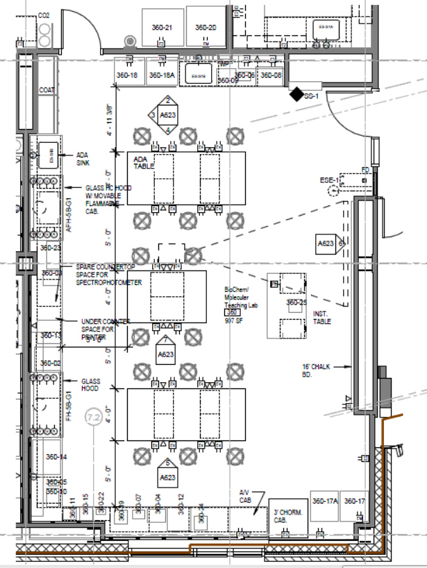 Alumni Hall Floor Plan Biochem Teaching Lab Newton Hall