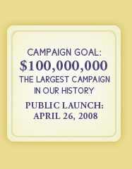 Campaign Goal: $100,000,000