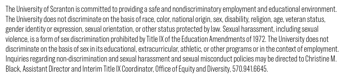 Non-discrimination statement for printed materials | equity and.