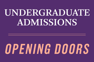 Expect More, Undergraduate Admission