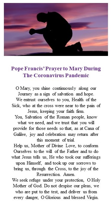 pope Francis prayer