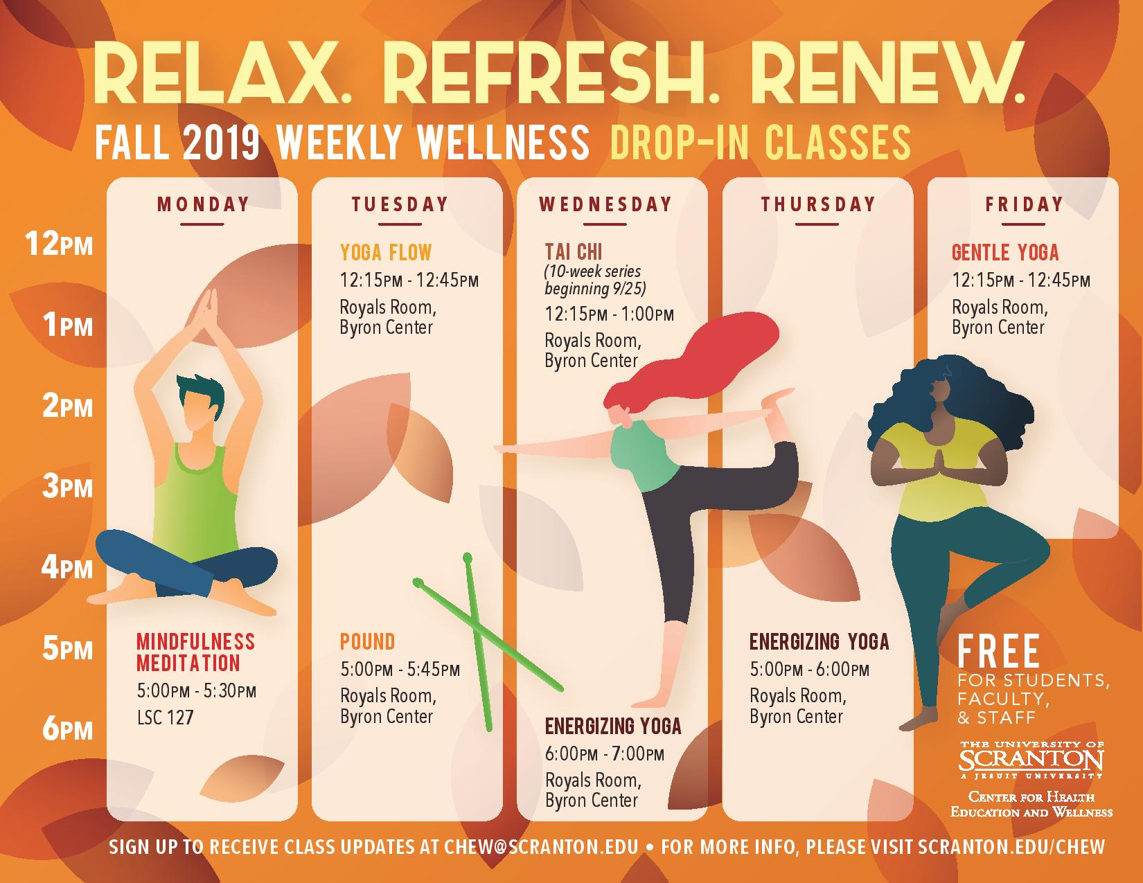 Wellness Events & Classes | Employee Wellness | Student Life